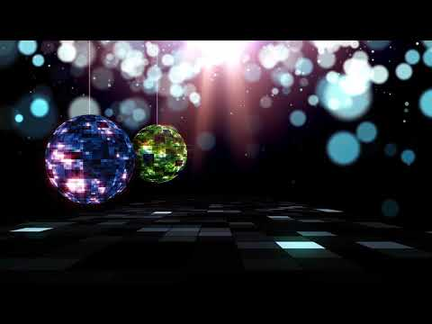 Disco Ball Background HD Video | Music Concert Backdrop
