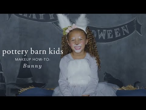 Cute Halloween Makeup Tutorial - Bunny Tutu Costume for Pottery Barn Kids