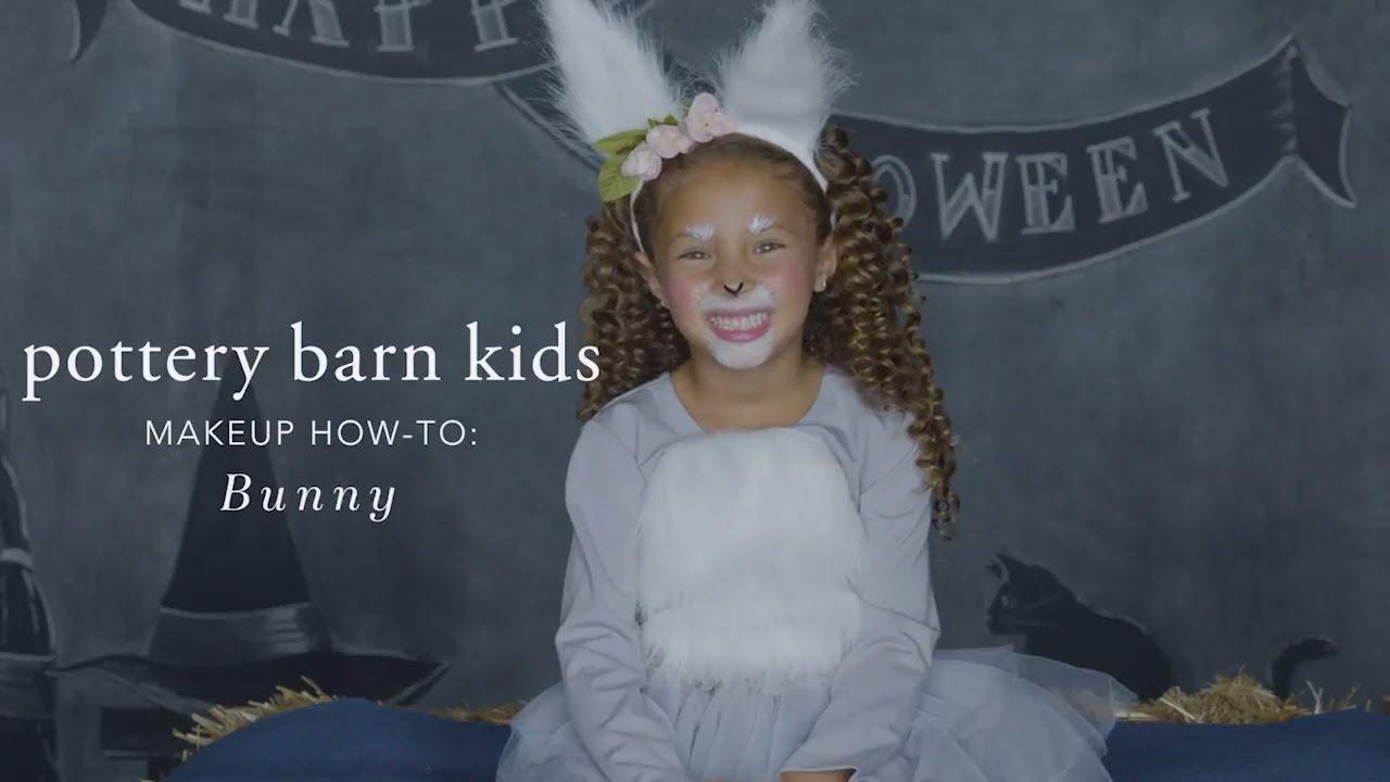 cute halloween makeup tutorial - bunny tutu costume for pottery barn