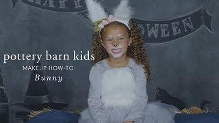 Cute Halloween Makeup Tutorial - Bunny Tutu Costume for Pottery Barn Kids