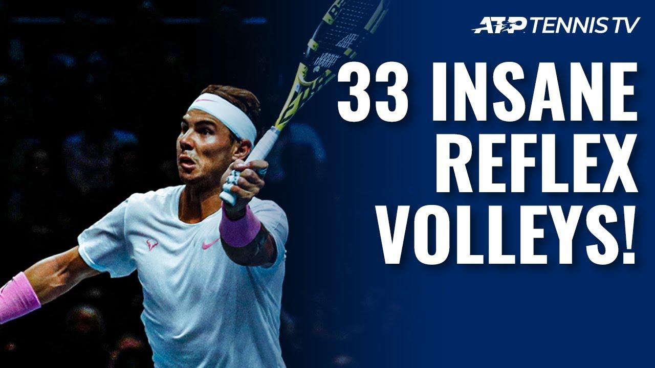 33 Insane Tennis Reflex Volleys ⚡️