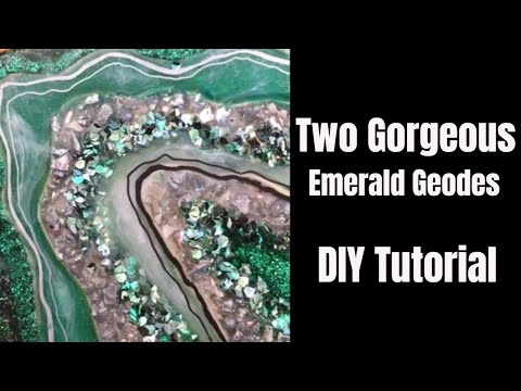 13. Two Mini Emerald Geodes // 💚Just4YouOnlineUK Glitters!
