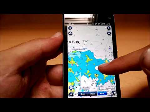 Test App Android Navionics Marine Europe (Boating HD) FR