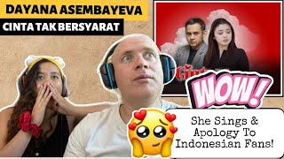 Cinta Tak Bersyarat Oleh Lucky Widja ft. Dayana Asembayeva Reaction!🇮🇩