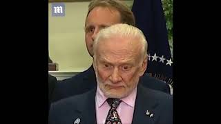 Trump talks space & Buzz Aldrin's face   NASA lies   Research Flat Earth   Mark Sargent