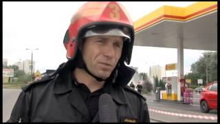 Na stacji paliw na ul. Grudziądzkiej doszło do wycieku gazu