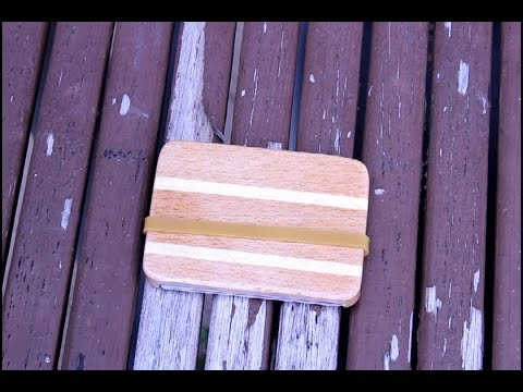 """Wooden Wallet or """"Once upon a time in the South"""""""