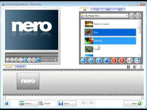 Nero movie maker