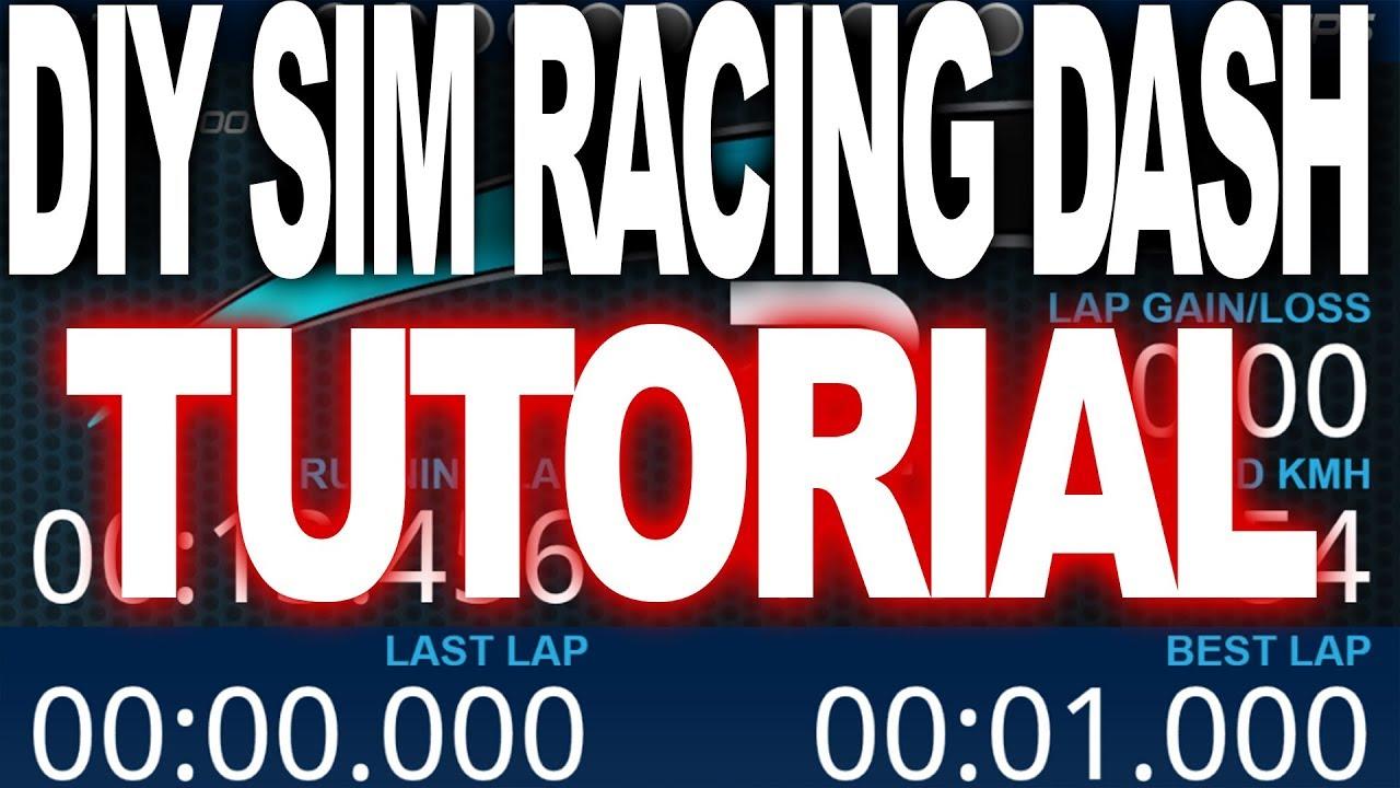 SimHub, DIY Sim racing Dash Tutorial