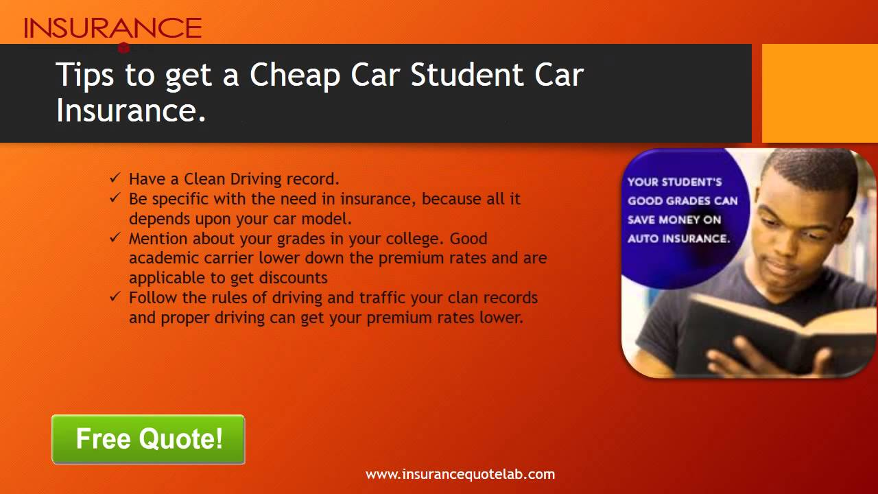 Full Coverage Car Insurance For College Students Away From ...