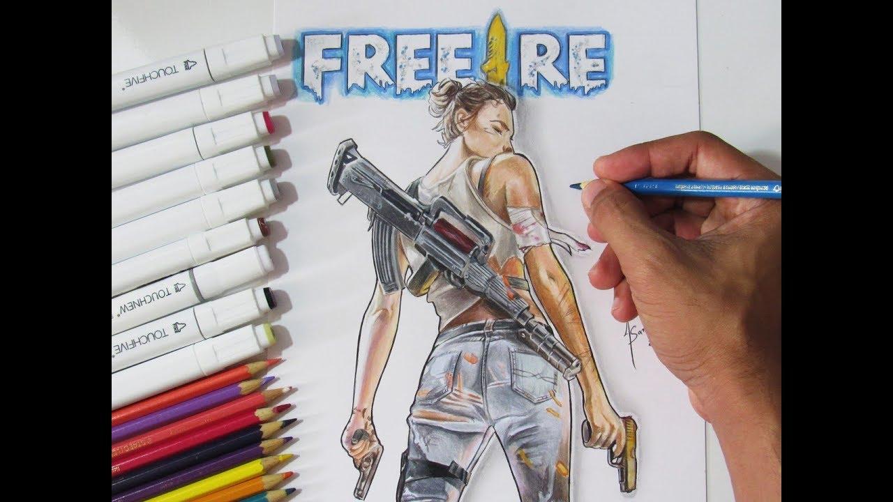 Desenhando Free Fire
