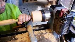 hap40 deep bowl gouge 12mm 試し削り 木工旋盤