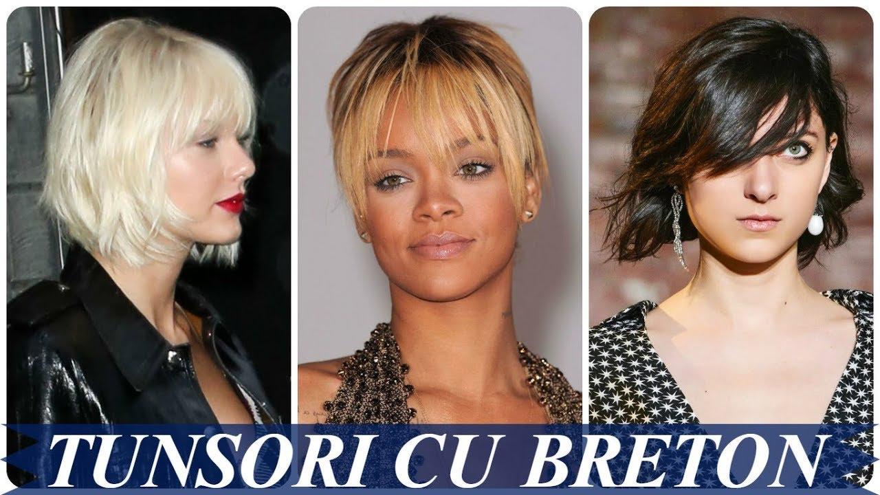Modele De Tunsori Femei Par Scurt Cu Breton 2018 Youtube