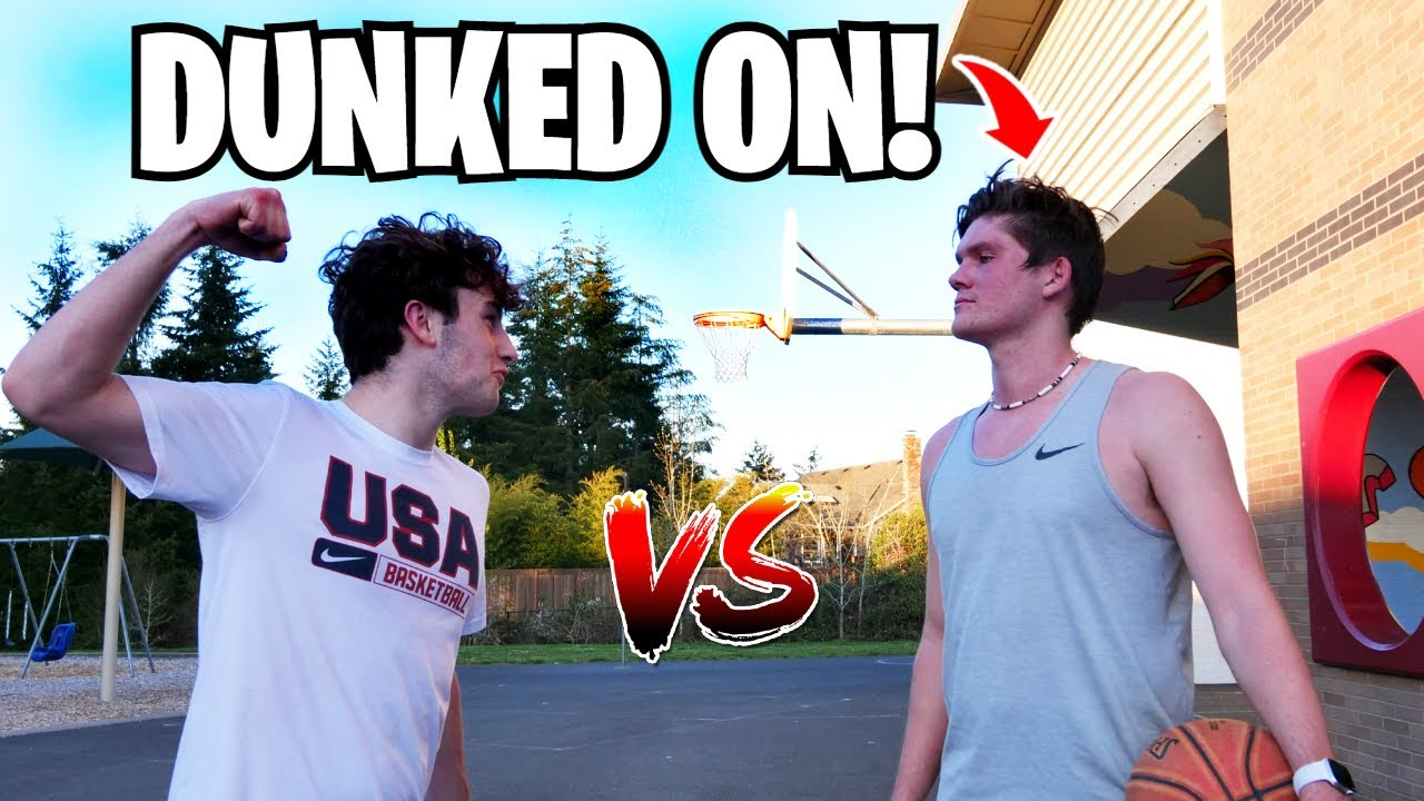 He Tried to Fight Me! 1 v 1 V.S College Player Get's Competitive!