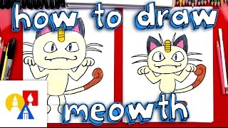 How To Draw Meowth Pokemon