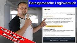 !Achtung Falle! Betrugsmasche - nicht autorisierter Loginversuch