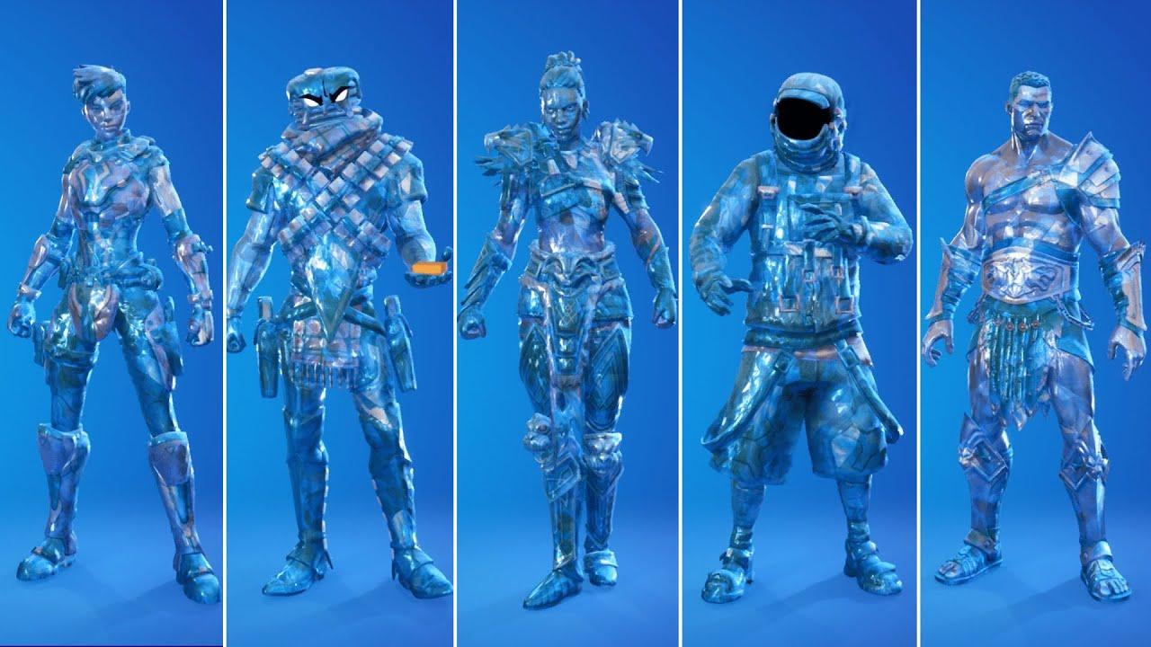 All Sapphire Edit Styles in Fortnite! How to Unlock Sapphire Battle Pass Skins! - Season 5