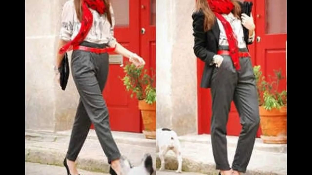 patrones de moda muy agradable más tarde Cómo combinar un pantalón gris