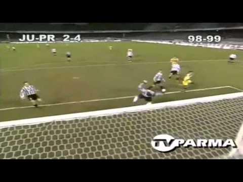 Serie A 1998-1999, day 20 Juventus - Parma 2-4 (Tacchinardi, 3 Crespo, Chiesa, Fonseca)