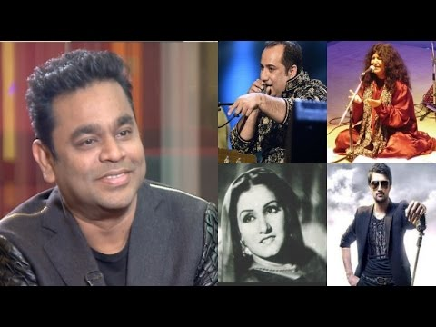 What does A R Rahman think of Pakistani singers.