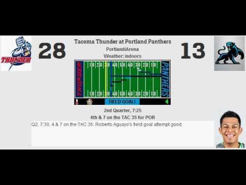 Week 1: Tacoma Thunder (0-0) @ Portland Panthers (0-0)