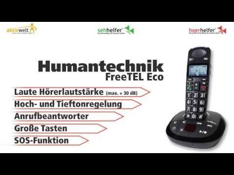Seniorentelefon Humantechnik FreeTEL Eco Schwarz