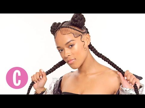 Braided Bantu Buns with Braids ft. Serayah | The Braid Up | Cosmopolitan