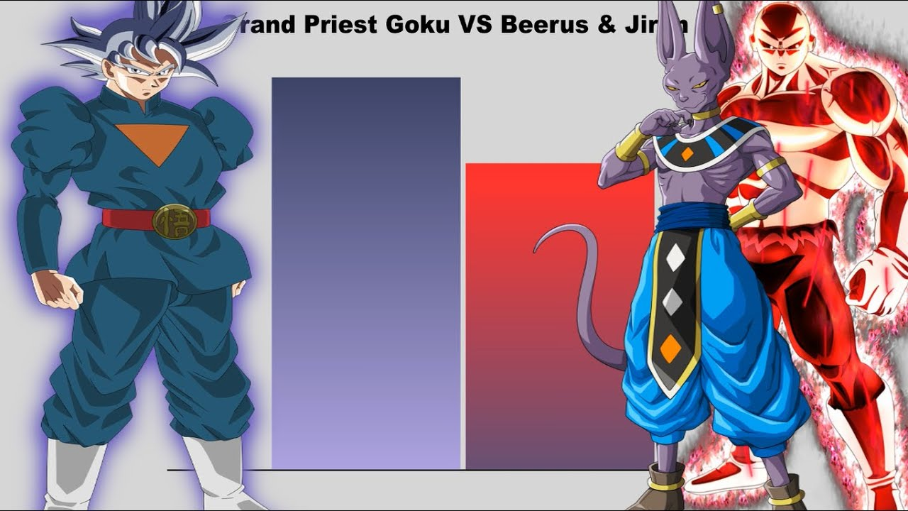 Grand Priest Goku VS Beerus & Jiren - Power Levels