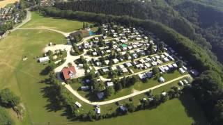 DJI Phantom - Kurzer Flug am Campingplatz Hirtenteich bei Essingen mit Blick auf Lauterburg