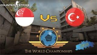 CS:GO World Championship 2016 - Singapore Vs Turkey (Group Stage)