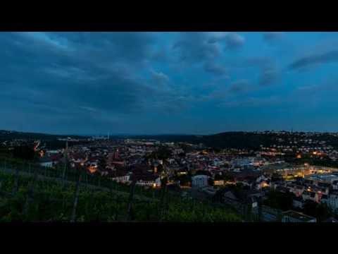 "Zeitraffer Shorties: ""Esslingen bei Nacht"" Weinberge 02 [HD]"
