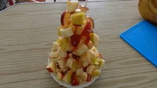 фрукты на детский день рождения // Фруктовая ёлочка