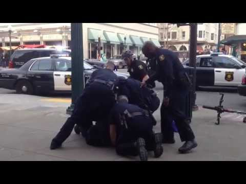 How many Berkeley cops does it take to arrest one homeless person?