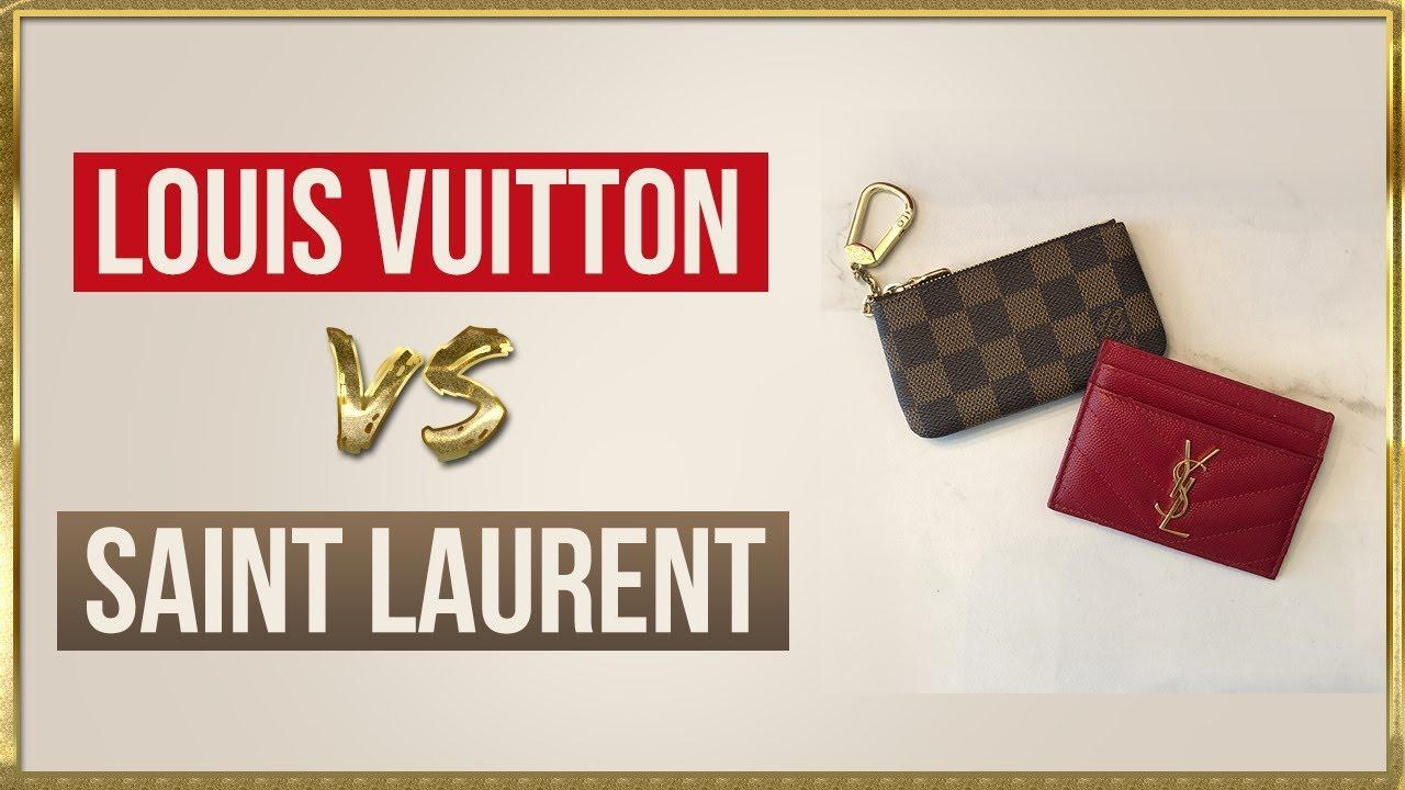 6e158d12995 Card Holder Showdown  Louis Vuitton vs Saint Laurent - YouTube