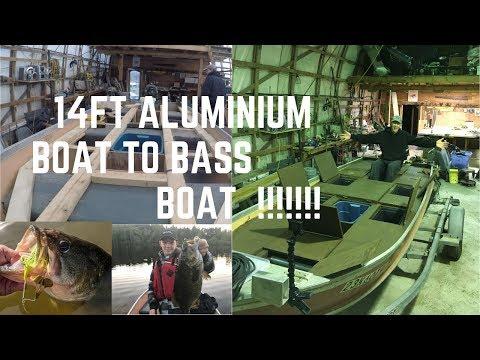 14ft aluminium vhull to bass boat DIY for cheap