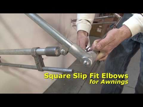 Square Slip Fit Elbow - Awning Frame Hardware