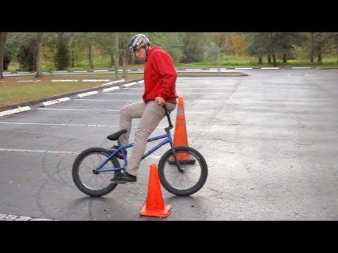 BACKWARDS BMX DRIFTING!