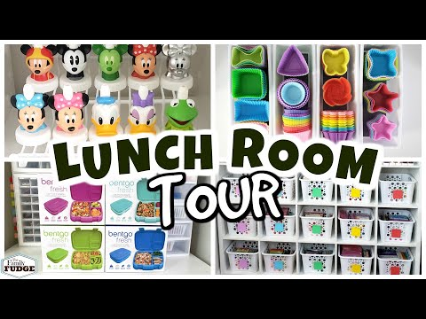 Lunch Room Tour | A CRAZY Amount Of Stuff! Containers. Cutters.   (Pt.1)