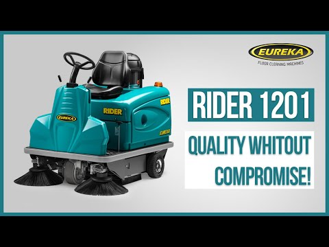 Industrial Sweeper Eureka Rider 1201 - Compact Ride-On Cleaning Machine