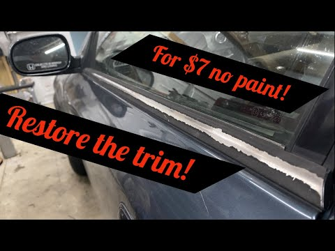 How To Fix Honda Prelude Exterior Window Molding! Works For Other Cars Too!