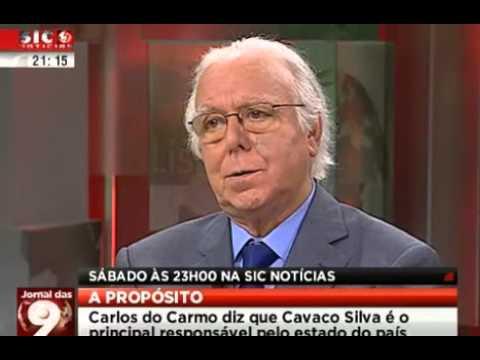 """Carlos do Carmo: """"Cavaco Silva é o principal responsável pelo estado do país"""""""