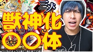 神ガチャ「三大シンカ論」を100連したら獣神化キャラは〇〇体出る!!