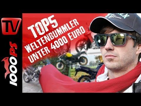Top 5 - Weltenbummler Bikes unter 4000 Euro - Gebrauchtmotorrad Beratung Reisemotorrad