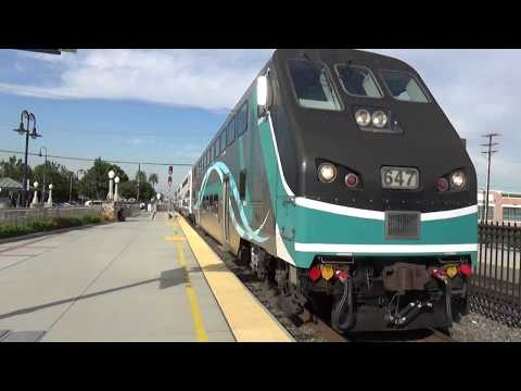 Action At The Orange Metrolink Station - Southbound Metrolink Train - November 8, 2017