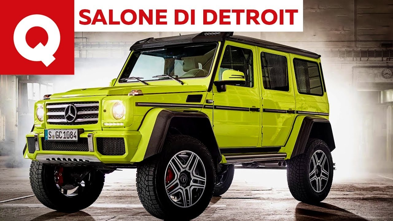 la nuova mercedes classe g al salone di detroit 2018 quattroruote youtube. Black Bedroom Furniture Sets. Home Design Ideas