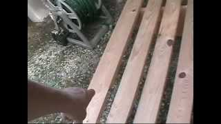 Woodworking Plans - Benches A Yard Bench Part 2