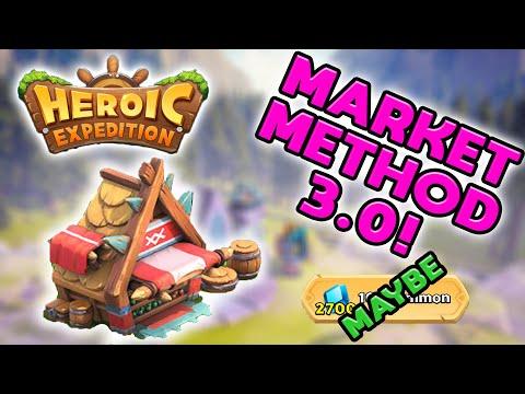 "Heroic Expedition - Market Method Nerf AGAIN! Presenting Market Method 3.0! ""Maybe"" Buy 10x Summons!"