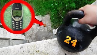 WHAT IF I DROP A 53 POUND KETTLEBELL ON A NOKIA 3310!?!