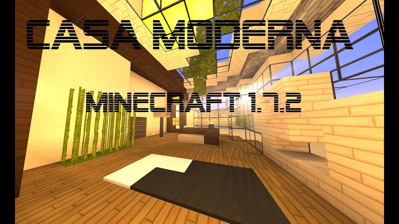 minecraft 1 7 2 casa moderna para supervivencia