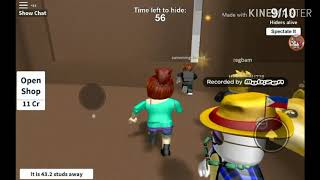 Hide and seek extreme #1 (roblox) TwT I almost had a heart attack